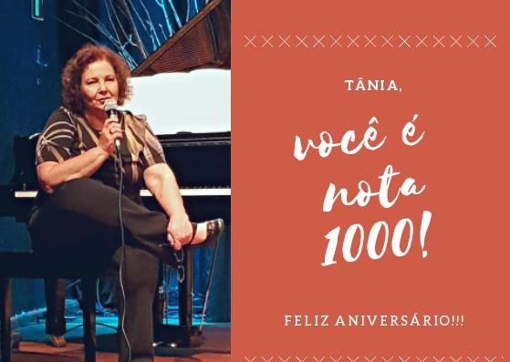 Níver da pianista e diretora Tânia Silveira