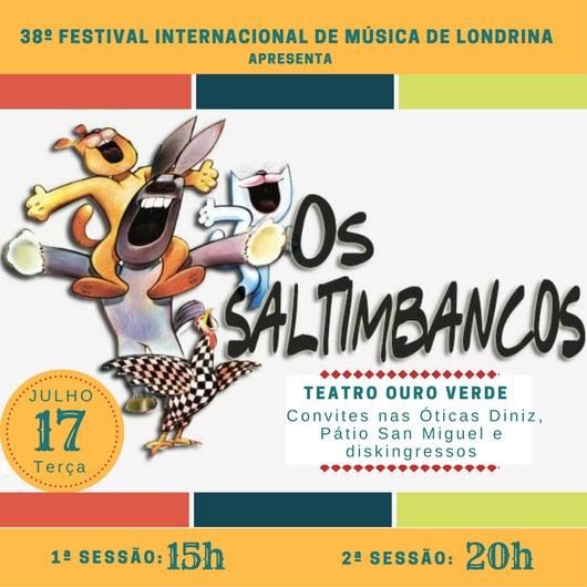Grupo Chorus no elenco do musical OS SALTIMBANCOS